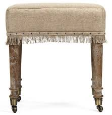 French Ottoman alfreda french country square burlap limed oak stool ottoman 7545 by xevi.us