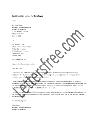A Confirmation Letter Is A Document Handed Over To An Employee