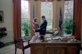 oval office history. File:Reagans Talking In Oval Office.jpg Office History