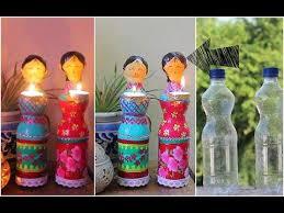 Decorated Plastic Bottles Dolls diya using Plastic Bottles for Diwali Decorations DIY Home 83