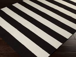 fancy black and white striped runner rug with ideas black and white striped rug editeestrela design
