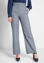 Light Blue Plaid Pants Put Fab First Wide Leg Pants