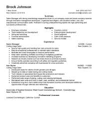 Perfect Hair Stylist And Salon Manager Resume Example With