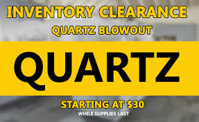 inventory clearance quartz blowout quartz starting at 30 while supplies last