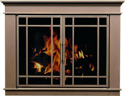 fireplace screen with glass doors in s brass fireplace screen with glass doors