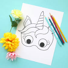 Aren't these 6 creatures just adorable? Unicorn Masks To Print And Color Free Printable It S Always Autumn