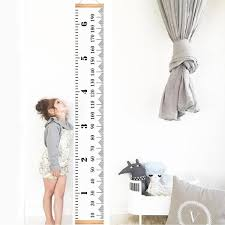 Hanging Growth Chart Infant Baby Height Growth Chart Roll Up Hanging Wood Frame