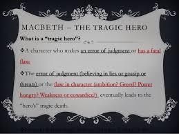 macbeth tragic hero madman macbeth the tragic hero