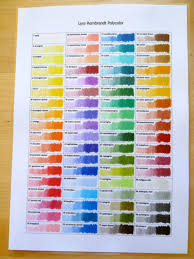Lyra Rembrandt Polycolor Colour Chart Lyra Rembrandt Polycolor Pencils Oil Based And Smooth A