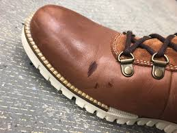 cole haan zerogrand leather boots worn for two days can i fix this don t know how it happened