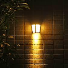 outside lights 6 led solar power wall