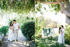 romantic garden engagement session from