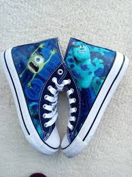 Inc Shoes Size Chart Canvas Shoes Hand Customised With Monsters Inc Fabric