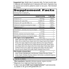 garden of life vitamin code raw calcium 120 capsules