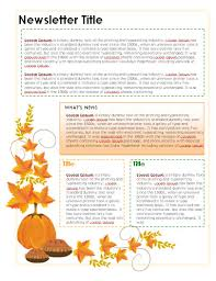 october newsletter ideas newsletter templates in microsoft word format certificate street