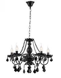 casa padrino baroque crystal ceiling chandelier black 60 x h 45 cm antique style furniture chandelier chandelier pendant light hanging lamp