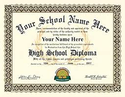 High School Deploma Amazon Com High School Diploma Personalized With Your Info