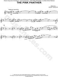 alto sax pink panther sheet music