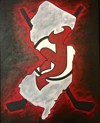 nj devils uptown art paint party at the prudential center