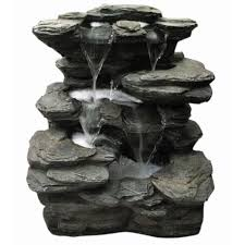 garden fountains other water features cascades slate multi fall water feature led lights height 46 cm fontanna ogrodowa zasilanie solarne nowość