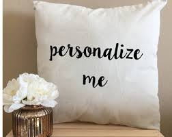 Custom Throw Pillows Personalized Throw Pillows 18 x 18 Pillow Decorative  Pillows Wedding Pillow Fun Throw
