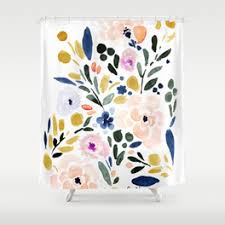 floral shower curtain. Sierra Floral Shower Curtain W