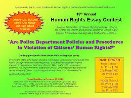 th annual human rights student essay contest youth council for  essay 2014
