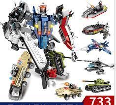 Báo giá (6in1) BỘ ĐỒ CHƠI XẾP HÌNH LEGO LẮP RÁP NGƯỜI MÁY ROBOT Biến hình  Từ Ô tô máy bay xe tăng tàu chiến 733 MẢNH Đồ chơi phát triển trí