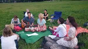 Russian amateur outdoor picnic
