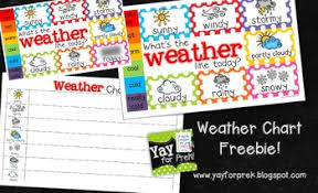 Chart Paper For Kindergarten Freebie Weather Chart Toddler Prek Kindergarten First Grade