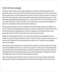 Boyfriend Thank You Love Letter