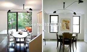 nordic 3 arm 6 arm serge mouille ceiling lights duckbill replica serge mouille rotating dining room
