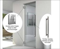frameless glass single doors opening