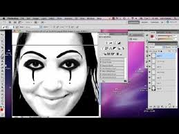 how to add a white clown makeup look in photo adobe photo you