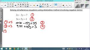solving simultaneous linear equations by elimination method hard