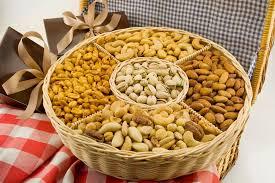 five section nut basket large