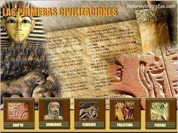 Las Primeras Civilizaciones - Historia evolutiva