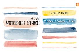 free watercolor brushes illustrator watercolor vector brush strokes by jsquarepresents on creative