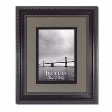 set of 3 11x14 ornate black photo frame glass slate gray black