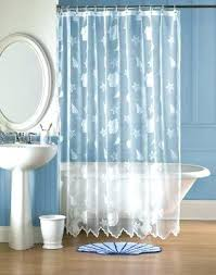 beach fabric shower curtain south polyester color light blue tropical seashell bathrooms s seashe