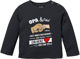 Opa Enkel Vielleicht Nicht Immer Einer Meinung Baby T Shirt Langarm Bio Baumwolle