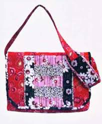 Flower-pattern Handbag 100% Handmade - Buy Handmade Fabric ... & Free Quilted Purse Pattern | Messenger Bag Pattern | Laptop or Tote Pattern  | Poorhouse Quilt Adamdwight.com