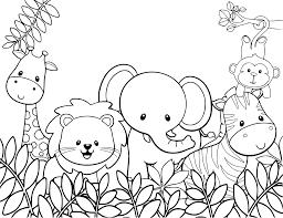 Safari Animals Template Coloring Safari Coloring Book Phenomenal Picture