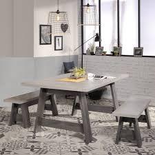 Esszimmer Maxim 3 Eiche Grau 6 Teilig Tisch Sitzbank Sideboard Regal