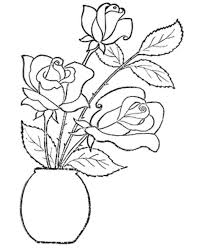 Small Picture Coloring Book Rose Flower Coloring Pages
