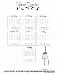 Water Intake Chart Bullet Journal Water Tracker Bullet