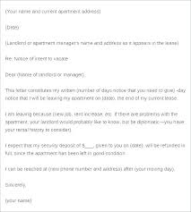 Sample Early Lease Termination Letter To Vacate Apartment