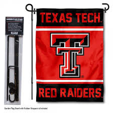texas tech university garden flag and stand