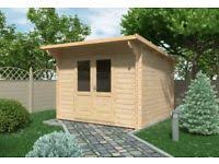 summer house office. Siena Log Cabin 3m X (28mm) - Garden Room Summer House Office Shed