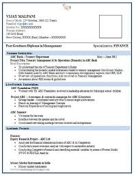 Over 10000 CV and Resume Samples with Free Download: Resume Format for MBA  Finance Fresher